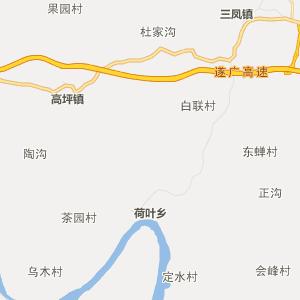 四川省行政地图 遂宁市行政地图