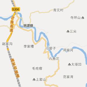 陕西行政地图 汉中行政地图