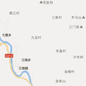 四川省行政地图 广元市行政地图