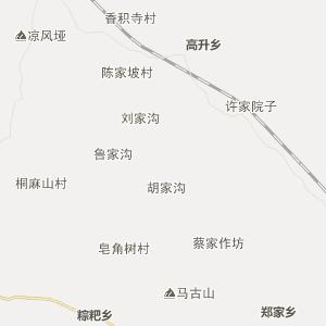 岳池县镇龙乡行政地图