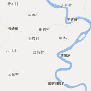 四川省广元市苍溪县地图