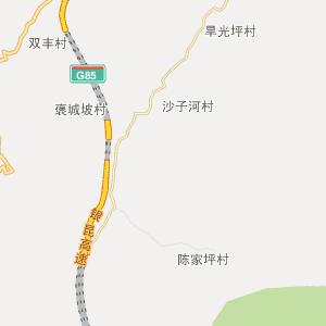 陕西省行政地图 汉中市行政地图
