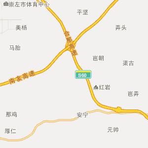 广西壮族自治区行政地图