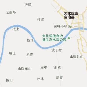 马山县乔利乡行政地图
