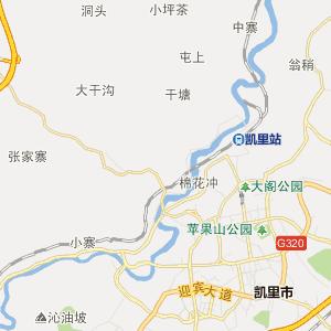 凯里大十字 行政地图 中国电子地图网