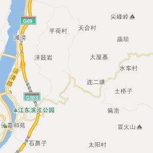 涪陵敦仁行政地图_中国电子地图网
