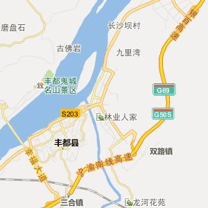 丰都名山行政地图_中国电子地图网