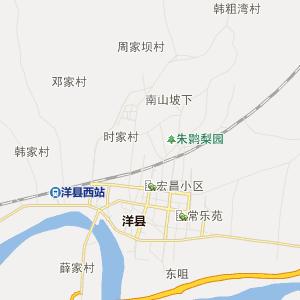 洋县溢水行政地图_溢水在线行政图