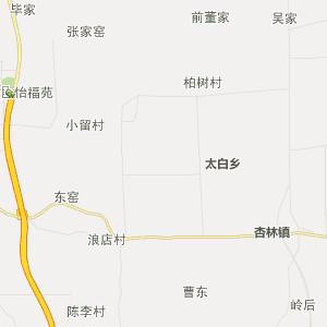 陕西省行政地图 宝鸡市行政地图