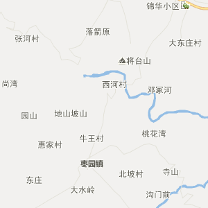 咸阳市长武县行政地图