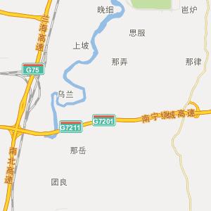 南宁良庆行政地图_中国电子地图网