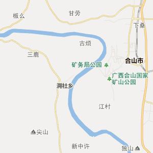 怀集到梧州地图