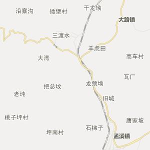 松桃县大路乡行政地图