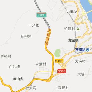 重庆行政地图 万州行政地图
