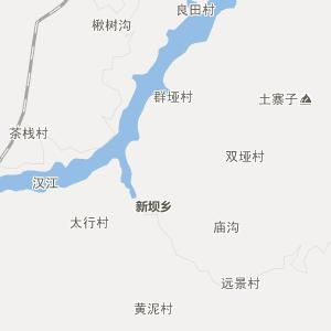 陕西行政地图 安康行政地图