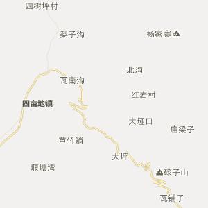 佛坪 地图 行政