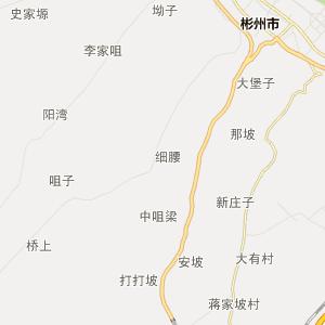陕西省行政地图 咸阳市行政地图