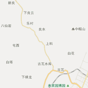 广西壮族自治区来宾市行政地图