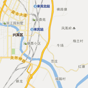 广西行政地图 来宾行政地图