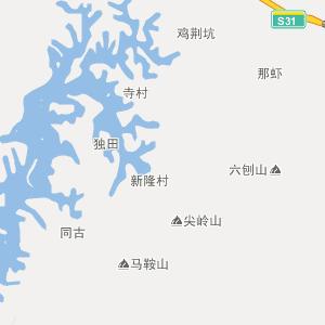 广西行政地图 贵港行政地图
