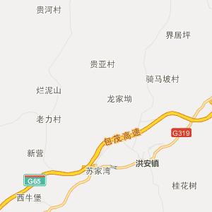 秀山县干川乡高清行政地图