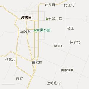 澄城县城关镇行政地图