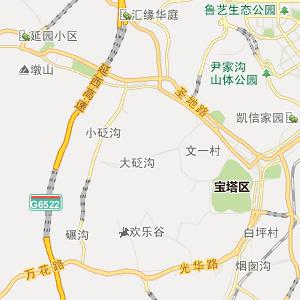 陕西省行政地图 延安市行政地图 宝塔区行政地图 李渠镇行政地图  ue