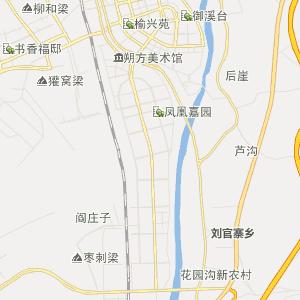 陕西榆林行政地图_中国电子地图网