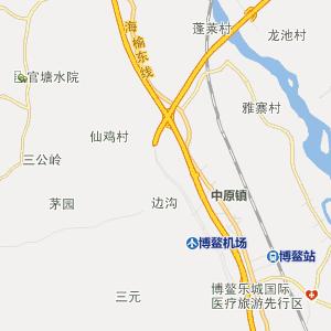 海南行政地图 琼海行政地图