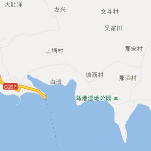 徐闻城北行政地图_中国电子地图网