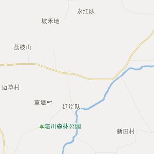 海南岛养桑地图