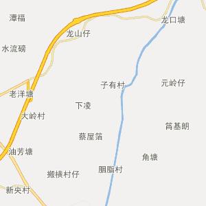 廉江横山行政地图