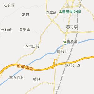 廉江市石岭镇行政地图