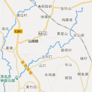 广东省茂名市行政地图