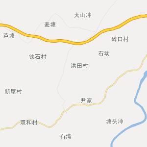 岳阳县-杨林乡交通地图
