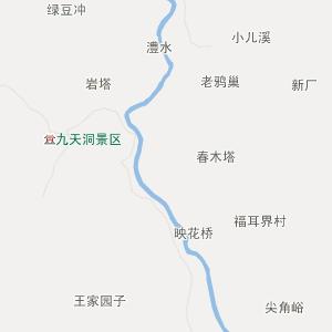 张家界桑植行政地图_中国电子地图网