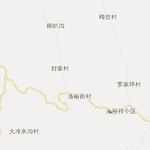 陕西省行政地图 商洛市行政地图