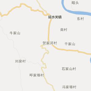 延安市延川县行政地图
