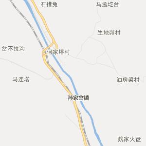 神木县孙家岔镇行政地图
