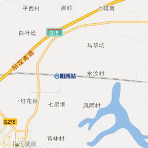 广东省行政地图 阳江市行政地图