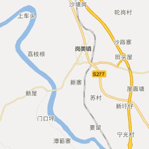 广东行政地图 阳江行政地图