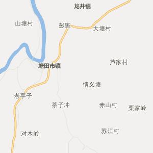 邵阳县河伯乡行政地图