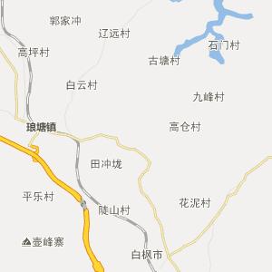 湖南行政地图 益阳行政地图