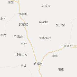 交口县康城镇行政地图
