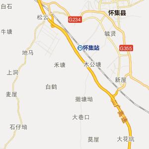 肇庆市怀集县行政地图