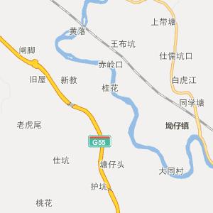 广宁县坑口镇行政地图图片