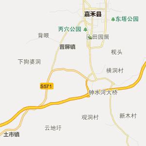 嘉禾城关行政地图_城关在线行政图查询