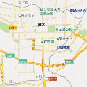 山西晋城行政地图_中国电子地图网