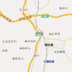 晋中榆社行政地图_中国电子地图网