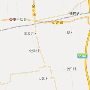 山西行政地图 忻州行政地图